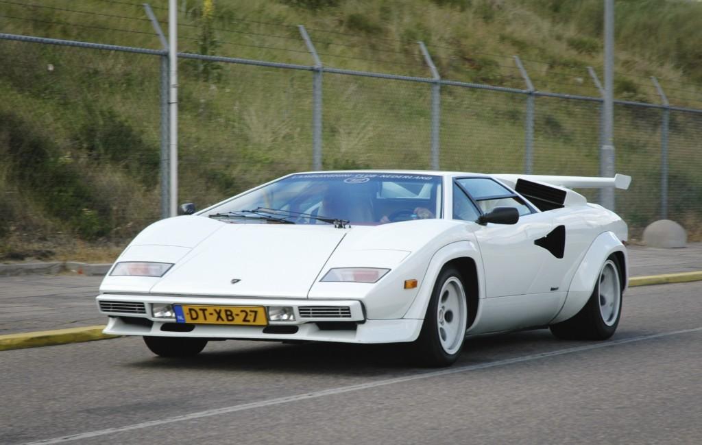 Lamborghini Countach driving.