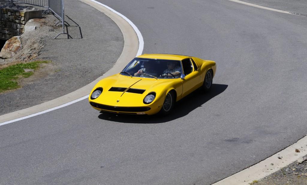 Lamborghini Miura in a corner