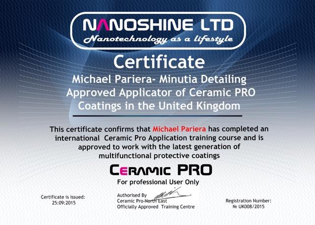Michael Pariera CP Certificate 008